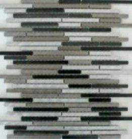 Rodio Slim Metal Mosaïque Carrelage 1. Choice dans 30x30x1 cm