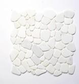 Asia White kamienia naturalnego mozaiki