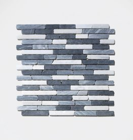 Nero Natural stone mosaic tiles 1. Choice in 30x30x1 cm