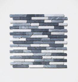Nero Natuursteen Mozaïek Tegels 1. Keuz in 30x30x1 cm