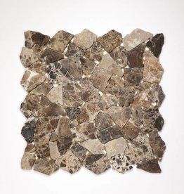 Castanao pierre naturelle Mosaïque Carrelage 1. Choice dans 30x30x1 cm