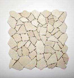 Biancone kamienia naturalnego mozaiki 1 wybór w 30x30x1 cm