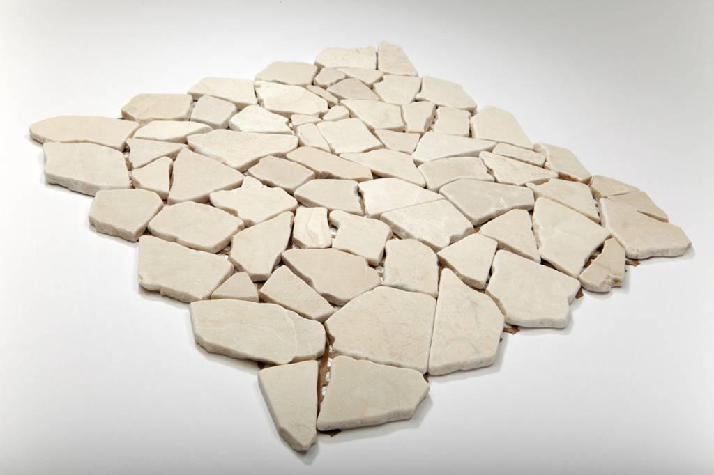 Biancone Natural stone mosaic tiles