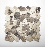 Castanao Cream kamienia naturalnego mozaiki