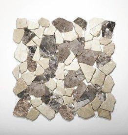 Castanao Cream Natuursteen Mozaïek Tegels 1. Keuz in 30x30x1 cm