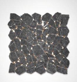 Nero Marquina kamienia naturalnego mozaiki 1 wybór w 30x30x1 cm