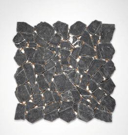 Nero Marquina Natuursteen Mozaïek Tegels 1.Keuz in 30x30x1 cm