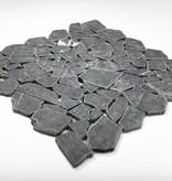 Nero Marquina pierre naturelle Mosaïque Carrelage