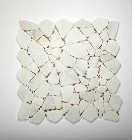 Bianco Carrara pierre naturelle Mosaïque Carrelage 1. Choice dans 30x30x1 cm