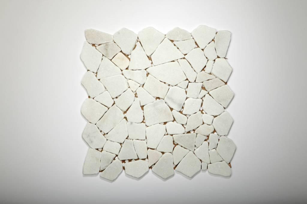 Bianco Carrara kamienia naturalnego mozaiki