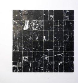 Elegance Schwarz Naturstein Mosaikfliesen 1.Wahl in 30x30 cm