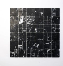 Elegance Zwart Natuursteen Mozaïek Tegels 1. Keuz in 30x30x1 cm