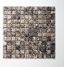 Emperador pierre naturelle Mosaïque Carrelage 1. Choice dans 30x30x1 cm