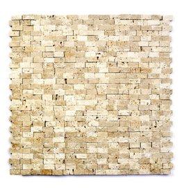 Minibricks Beige Natural stone mosaic tiles 1. Choice in 30x30x1 cm