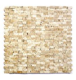 Minibricks Beige Natuursteen Mozaïek Tegels 1. Keuz in 30x30x1 cm