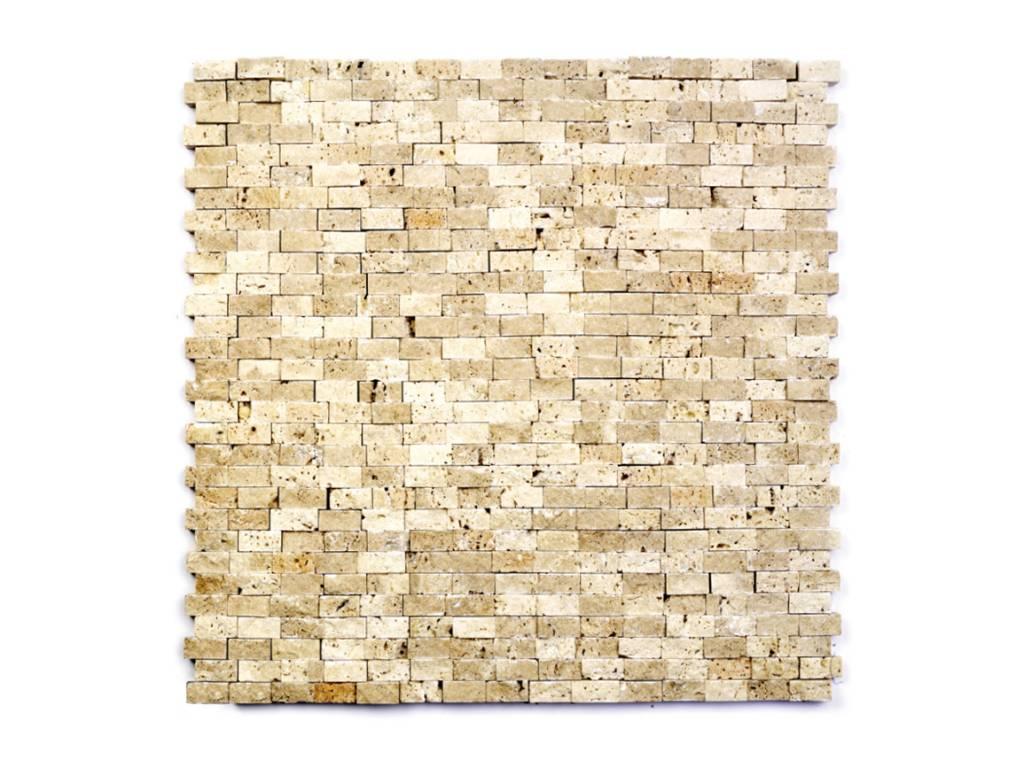 Minibricks Beige kamienia naturalnego mozaiki