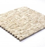 Minibricks Beige Natural stone mosaic tiles