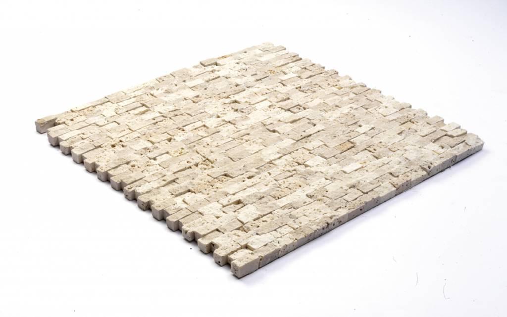 Minibricks Beige Natuursteen Mozaïek Tegels