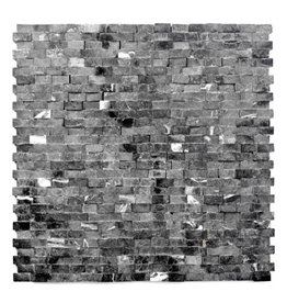 Minibricks Nero Natural stone mosaic tiles 1. Choice in 30x30x1 cm