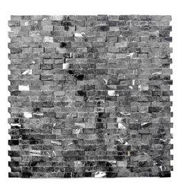 Minibricks Nero pierre naturelle Mosaïque Carrelage 1. Choice dans 30x30x1 cm