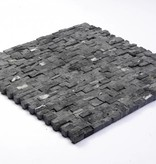 Minibricks Nero Natural stone mosaic tiles