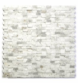 Minibricks Bianco Natural stone mosaic tiles 1. Choice in 30x30x1 cm