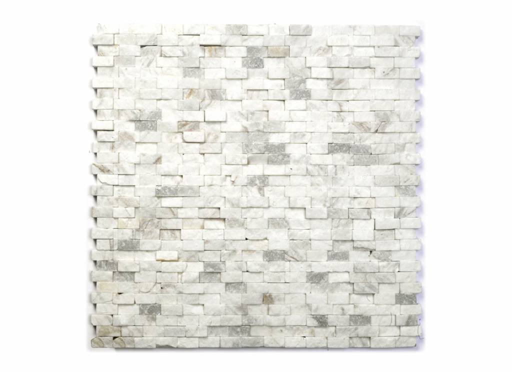 Minibricks Bianco Natural stone mosaic tiles