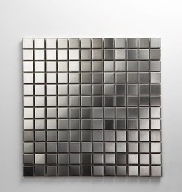 Iron Stainless Matal mosaic tiles, 1. Choice, 2,3x2,3 in 30x30x1 cm
