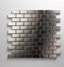 Iron Roestvrij Metaal Mozaïek Tegels, 1. Keuz, 2,3x4,8 in 30x30x1 cm