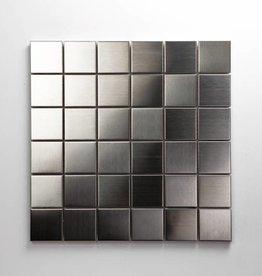 Iron Acier Inoxydable Metal Mosaïque Carrelage, 1. Choice, 4,8x4,8 dans 30x30x1 cm