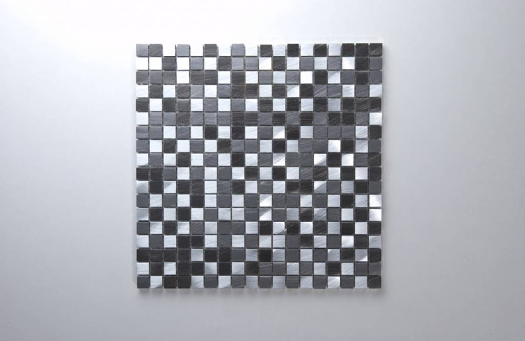 Novo Black Metaal Mozaïek Tegels