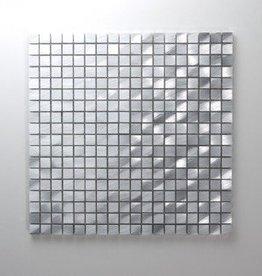 Novo Argent Metal Mosaïque Carrelage 1. Choice dans 30x30x1 cm