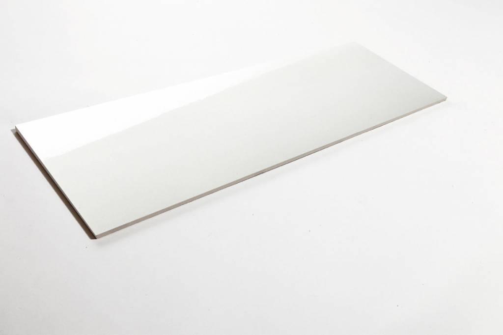 Wit glanzend wandtegels hooglans in 20x60