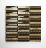 Delos Beige Brown Mix glas mosaic tiles