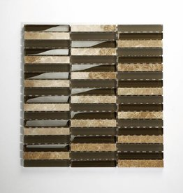 Delos Beige Braun Mix Glas Mozaïek Tegels 1. Keuz in 30x30x1 cm