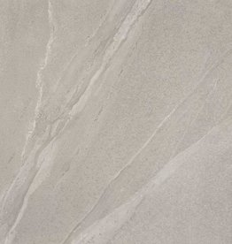 Terrassenplatten Feinsteinzeug Calcare Grey 1. Wahl in 60x60x2 cm