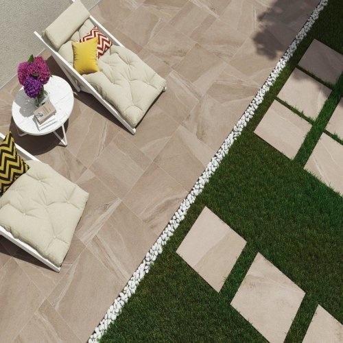 Calcare Beige Keramische Terrastegels 60x60x2 cm
