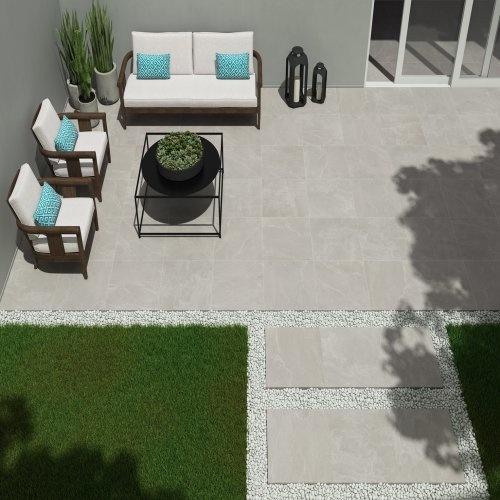 Slate Grey Keramische Terrastegels 60x60x2 cm