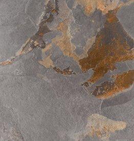 Terrassenplatten Feinsteinzeug Slate Multicolor 1. Wahl in 60x60x2 cm