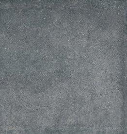 Terrassenplatten Feinsteinzeug Concrete Nero 1. Wahl in 60x60x2 cm