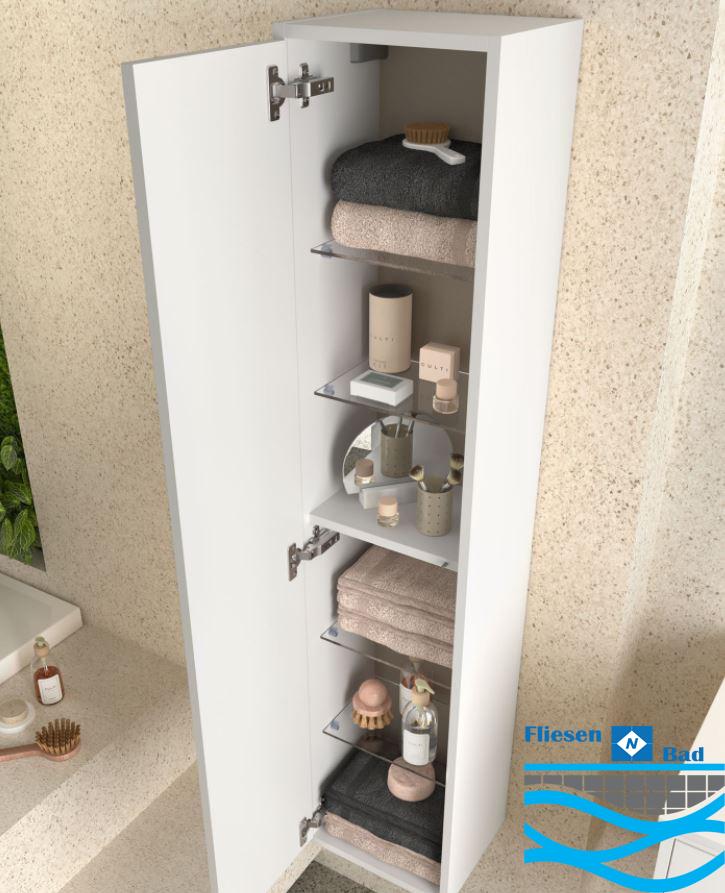 Badmöbel Komplett-Set Vista 600 Mattweiß