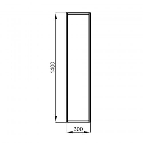 Badmöbel Komplett-Set Vista 600 Mattschwarz