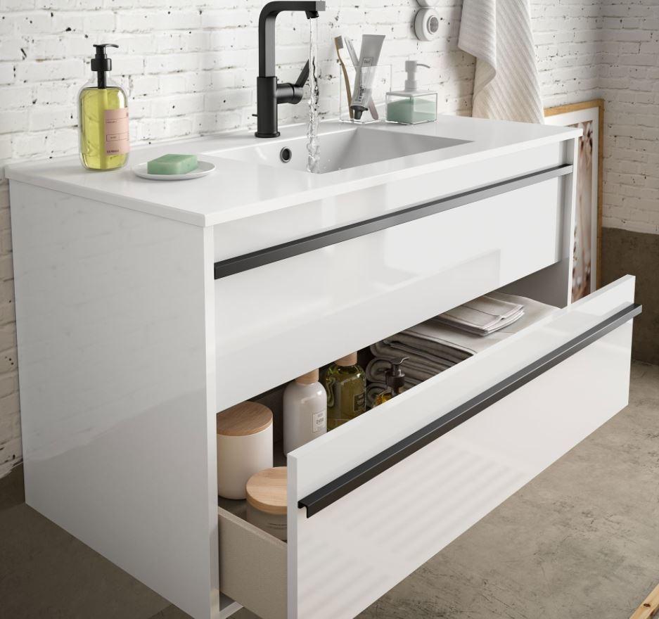 Bathroom Furniture Infinity 1000 White Glossy