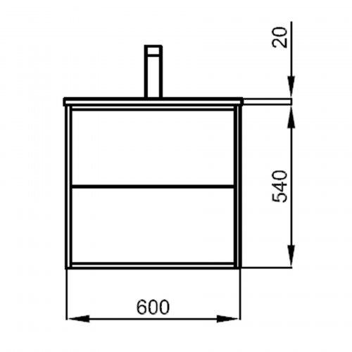 Badmöbel Komplett-Set Infinity 600 Ostippo Oak