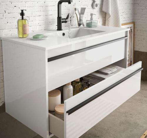 Bathroom complete set  Infinity 800 White Glossy