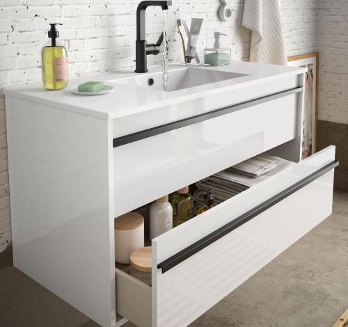 Bathroom complete set  Infinity 1000 White Glossy