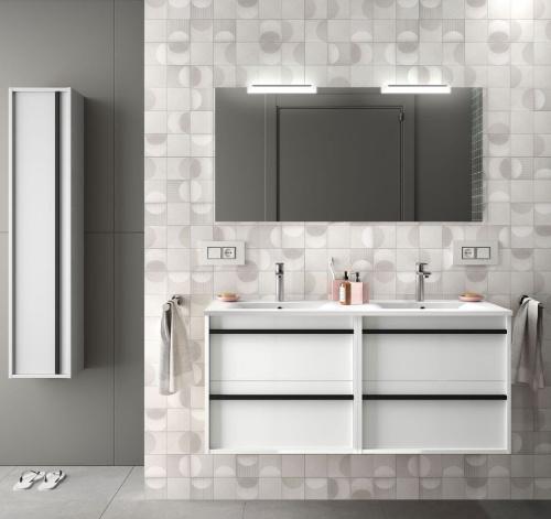 Badmöbel Komplett-Set Infinity 1200 White Glossy