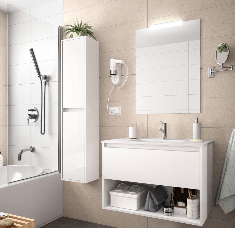Bathroom Koja 600 White Glossy 1 drawer