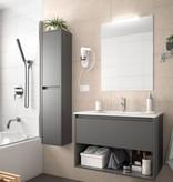 Bathroom Complete set Koja 600 Matt Grey 1 drawer