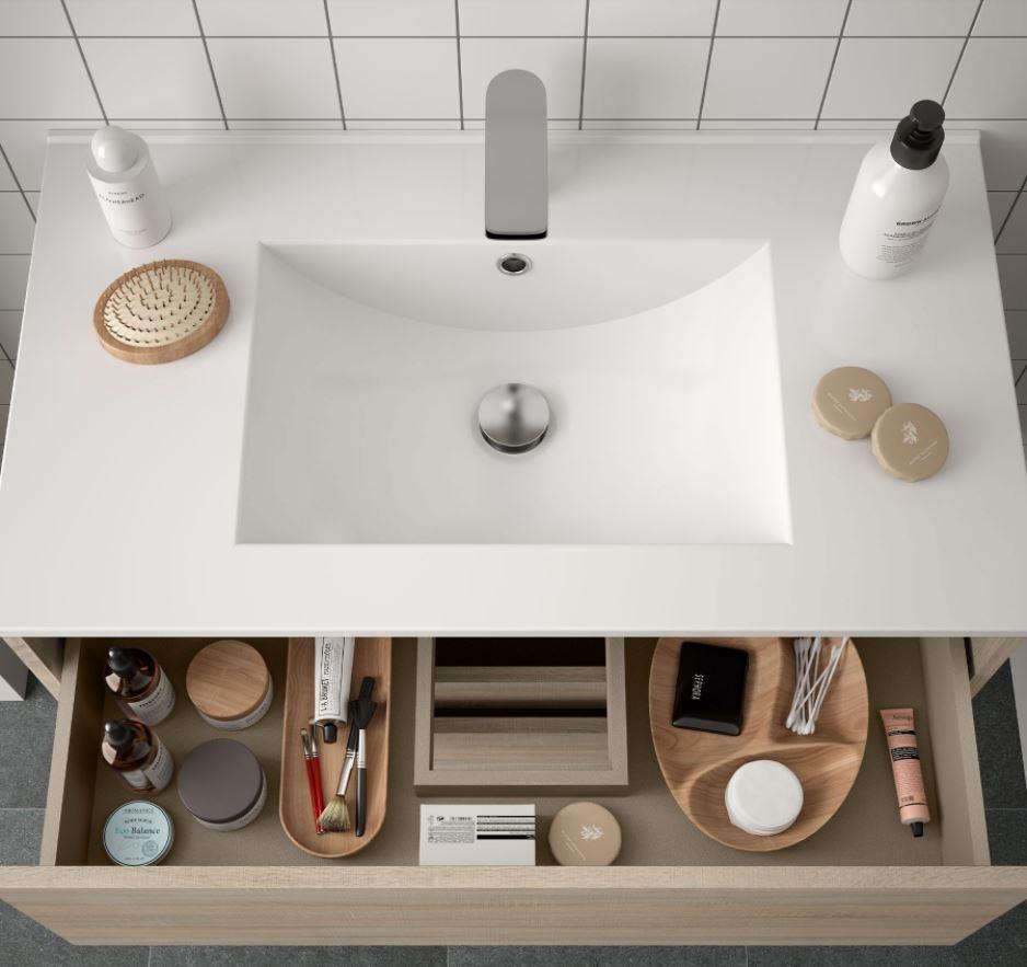 Bathroom Complete set Koja 600 Natural Oak 1 drawer